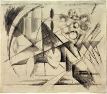 Franz Marc, Abstrakte Zeichnung von AKG  Images