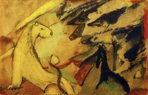 Franz Marc, Gleber Löwe, blaue Füchse, blaues Pferd von AKG  Images