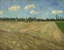 V. van Gogh, Gepflügte Felder (Ackerfurchen) by AKG  Images