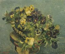 V. van Gogh, Korb mit Stiefmütterchen auf einem Tischchen von AKG  Images