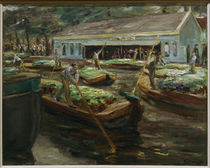 Max Liebermann, Gemüsemarkt in Delft by AKG  Images