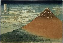 Fudschijama / Farbholzschnitt Hokusai um 1831 von AKG  Images