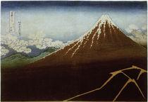 Fudschijama / Farbholzschnitt Hokusai um 1831 by AKG  Images