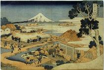 Berg Fuji und Teeplantage in Suruga / Hokusai um 1831 von AKG  Images