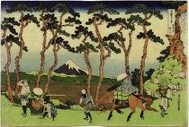 Hokusai, Hodogaya an der Tôkaidô-Straße... /  um 1831 by AKG  Images