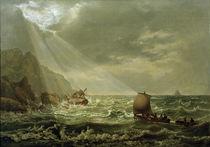 J.C.C.Dahl, Schiffbruch vor Capri von AKG  Images