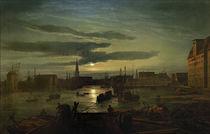 Kopenhagen, Hafen / Gem. v. Dahl von AKG  Images
