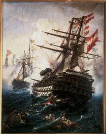 Seeschlacht bei Lissa / Gem. v. Volonakis by AKG  Images