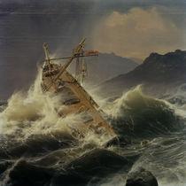 A.Achenbach, Snowstorm / 1837 by AKG  Images
