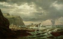 J.Chr. C.Dahl, Gestrandetes Schiff von AKG  Images