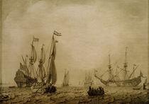 L.Backhuysen, Schiffe auf der Reede... von AKG  Images