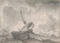 L.Backhuysen, Schiffe auf stürmischer See by AKG  Images