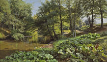 Peder Mørk Mønsted, Sunny May Day at the Forest Stream by AKG  Images