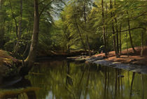 Peder Mørk Mønsted, Summer's Day at the Forest Stream by AKG  Images
