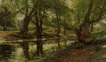 Peder Mørk Mønsted, Spring Day at the Forest Stream by AKG  Images
