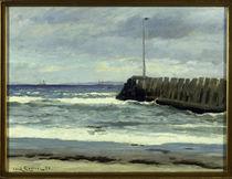 Carl L.Locher, Am Strand / Gemälde, 1886 von AKG  Images