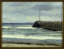 Carl L.Locher, Am Strand / Gemälde, 1886 by AKG  Images