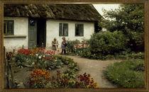 P. Mönsted, Lesestunde im Blumengarten von AKG  Images