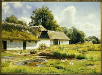 P. Mönsted, Sommertag am Bauernhof von AKG  Images