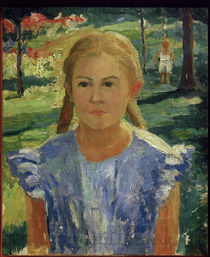K.Malewitsch, Porträt von Una by AKG  Images