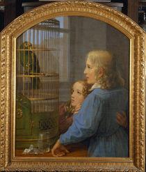 G.F.Kersting/2 Kinder Papageienbauer1835 von AKG  Images