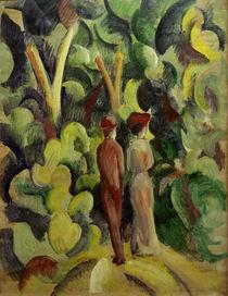 A.Macke, Paar auf dem Waldweg, 1913 von AKG  Images