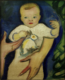 A.Macke / Portrait of Walter Macke with Little Rabbit by AKG  Images