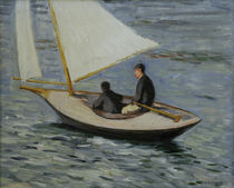 Caillebotte / Sailboat on the Seine by AKG  Images
