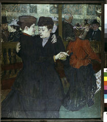 Toulouse-Lautrec / Tanz im Moulin R./1892 by AKG  Images