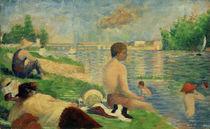 G.Seurat, Badeplatz bei Asnières (Studie) von AKG  Images