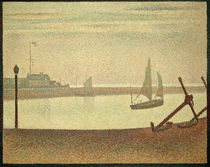 G.Seurat, Abend am Kanal von Gravelines von AKG  Images