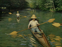 Caillebotte / Canoes on the Yerres River by AKG  Images