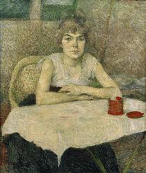 Toulouse-Lautrec, Junge Frau am Tisch von AKG  Images