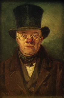 Man with Top-Hat / C. Spitzweg / Painting c.1837 by AKG  Images