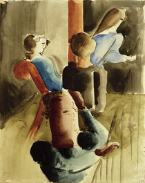 O.Schlemmer, Vierergruppe mit Sitzender by AKG  Images