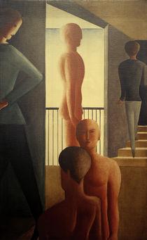 O.Schlemmer, Fünf Männer im Raum von AKG  Images