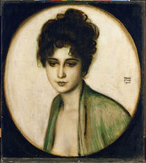 Portrait of Mrs Feez / F. von Stuck / Painting 1900 by AKG  Images