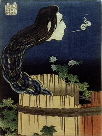 Hokusai, Das Tellerhaus / Farbholzschnitt 1831–1832 von AKG  Images