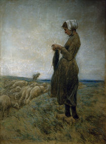 Liebermann / Young Dutch Herdess by AKG  Images
