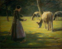 Liebermann / Spinning Cow Herdess by AKG  Images