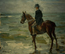 Liebermann / Rider Along Sea / Painting by AKG  Images
