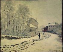 C.Monet, Schnee in Argenteuil von AKG  Images