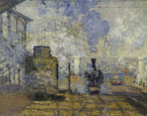 Monet / Gare Saint-Lazare / 1877 / Detail by AKG  Images