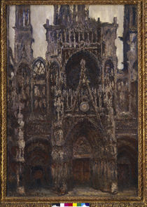 Monet / Rouen Cathedral (Harmonie brune) by AKG  Images
