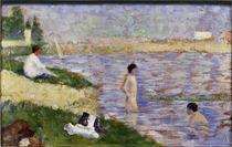 Seurat, Studie zu Badeplatz bei Asnières von AKG  Images