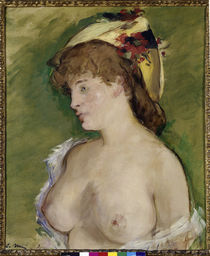 Manet / Blonde with bare breasts / 1878 by AKG  Images