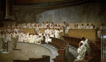 Cicero / Catilina / Fresco / Maccari 1889 by AKG  Images