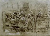 M.Liebermann, Sechs nähende holländische Mädchen vor einer Hauswand by AKG  Images