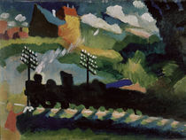 W.Kandinsky, Eisenbahn bei Murnau von AKG  Images