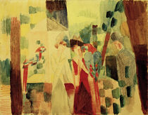 A.Macke / Man and Woman next to Parrots by AKG  Images